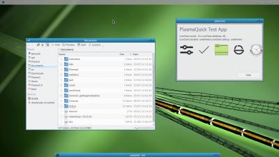 KDE Frameworks 5 apps under Weston