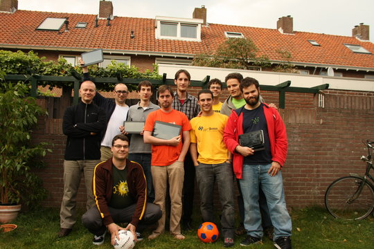 Groupphoto. Taken one day after Dario and Ruphy left, so we don't look like an Italian-only team.