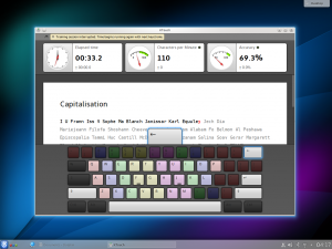 KTouch Touch Typing Tutor